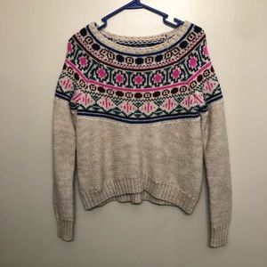 American Eagle sweater knit cream pink small